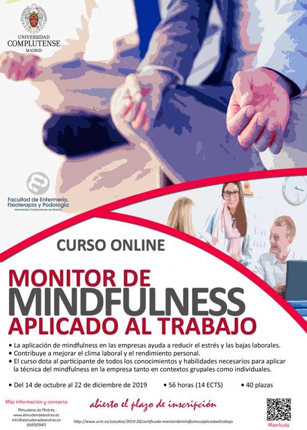 MF online cartel 2 - Monitor de Mindfulness aplicado al trabajo (online) UCM. Otoño 2019