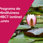 programa mbct lunes - Programa de Mindfulness MBCT. Online. Lunes. Grupos de mañana y tarde. 4 de Octubre 2021